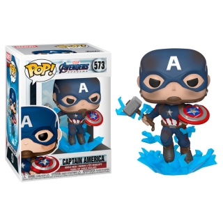 Captain America Funko POP Avengers: Endgame Shield & Mjolnir