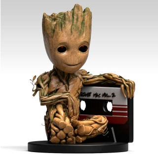 Baby Groot Bust Bank figure